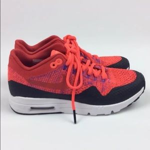 Nike air max 1 ultra flyknit university red size 7